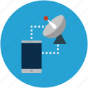 browsing, cell phone, globe, mobile, network, networking, server icon