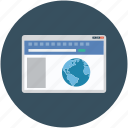 browsing, global, globe, webpage, website