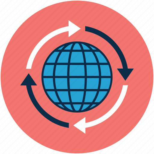 arrows, global, globe, re-process, refresh, reused icon