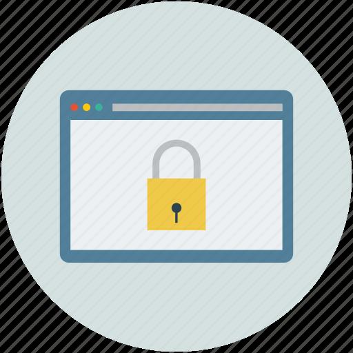 computer, lock, locked, mac, monitor, webpage, website icon
