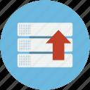 arrow, draws, storage, upload, uploading, upward