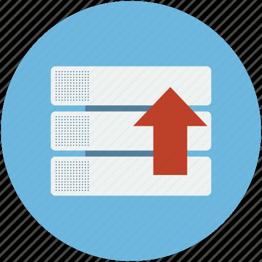 arrow, draws, storage, upload, uploading, upward icon