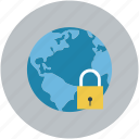 globe, lock, locked, map, navigation icon