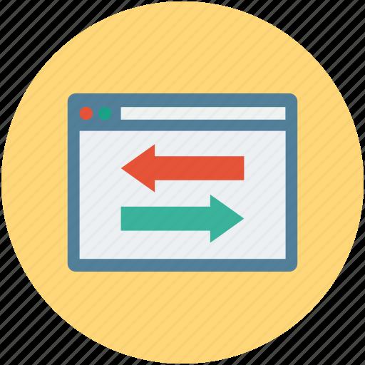 arrows, reload, reprocess, webpage, website icon