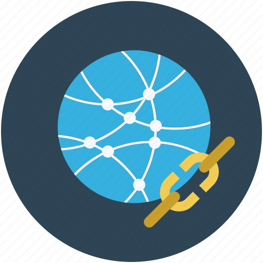 global, globe, linkage, search engine optimization, seo icon