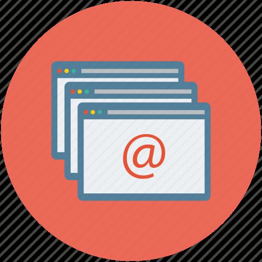 arroba, arroba sign, arroba symbol, online, webpages, website icon