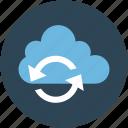arrows, cloud, icloud, network, refresh, reload, reprocess, server