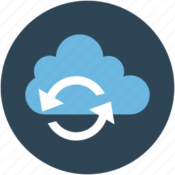 arrows, cloud, icloud, network, refresh, reload, reprocess, server icon