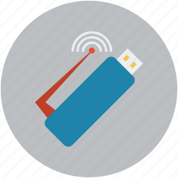 internet, universal serial bus, usb, usb device, wifi, wifi signals icon