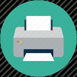 electronics, inkjet printer, laser printer, printer, printing, scanner icon