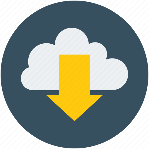 arrow, cloud, download, downloading, downward, icloud icon