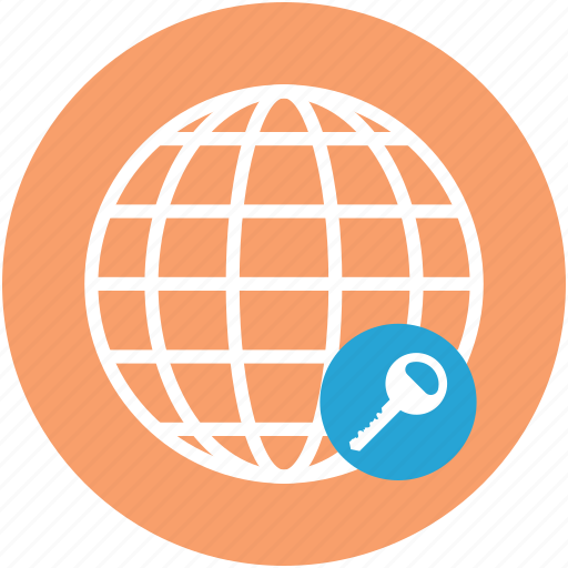 earth, global, globe, key, map, passkey, world icon