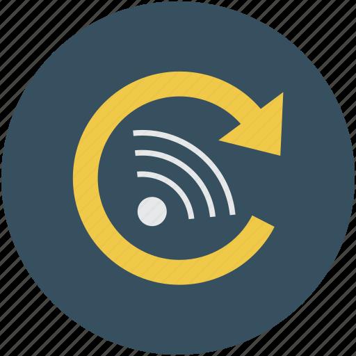 arrow, internet, internet signals, wifi, wifi signals, wireless icon