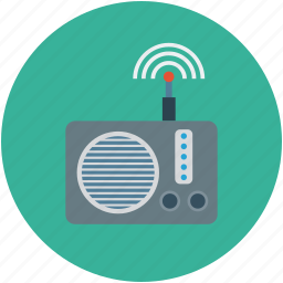 audio, entertainment, network, radio, radio set, signal, wireless icon