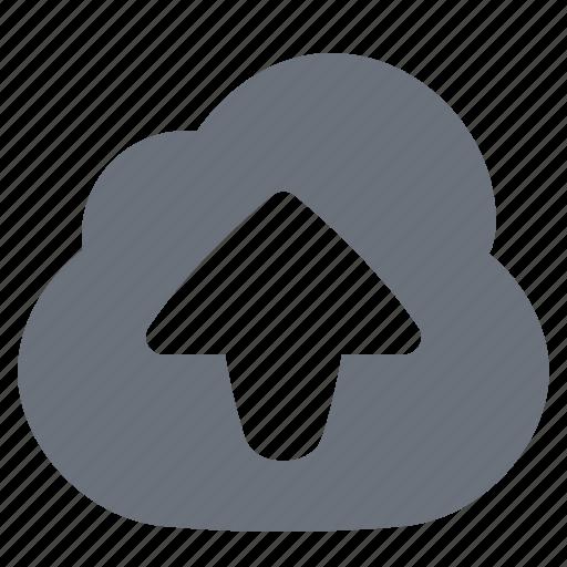 cloud upload, pika, simple, uploading icon