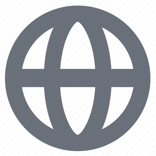 earth, globe, internet, pika, planet, simple, web, world icon