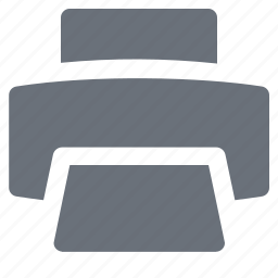 pika, printer, simple icon