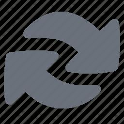 arrow, pika, simple, synchronize icon