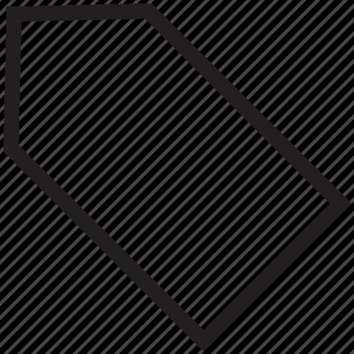 empty label, empty tag, label, mark, name, tag icon