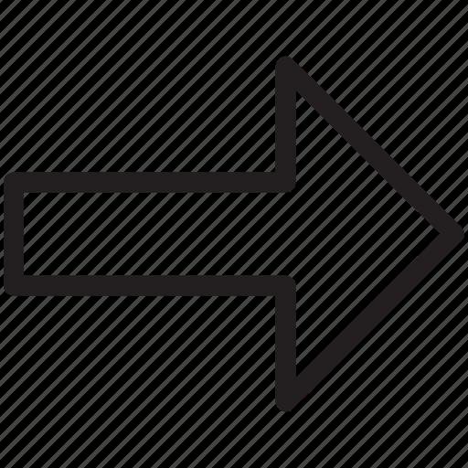 arrow, arrow forward, direction, forward, next icon
