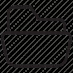 computer folder, document folder, file folder, folder, open folder icon