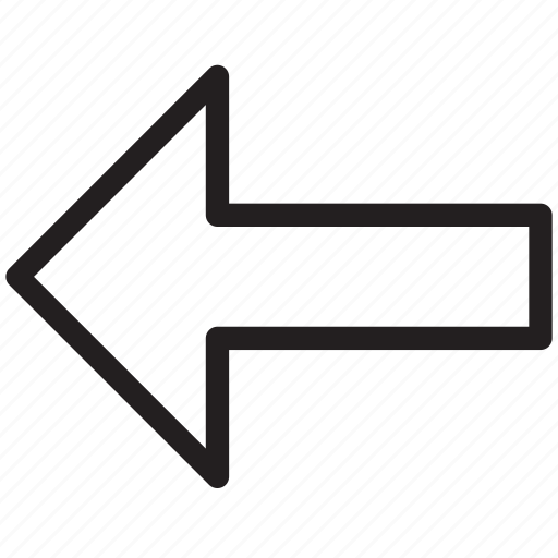 arrow, arrow back, back, direction, left, left sign icon
