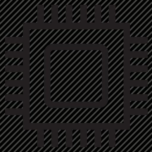 central processor, chip, cpu, microchip, processor icon