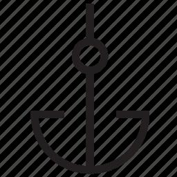 anchor, sea, sea anchor, ship anchor, ship hook icon