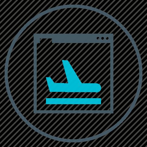 airplane, landing, page, plane, seo, webpage icon