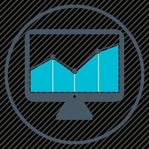 analytics, chart, mac, seo, traffic icon