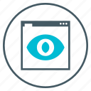 eye, seo, visibility, web, webpage icon