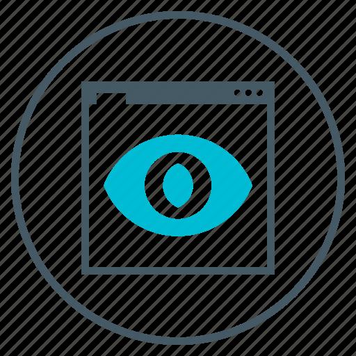 eye, seo, visibility, web, webpage icon