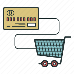 card, cart, cash, cashless, payment icon