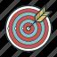 arrow, darts, goal, target icon