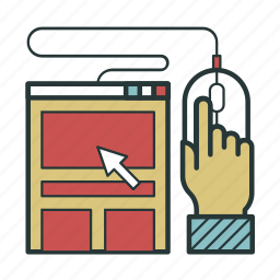 click, computer, job, work icon
