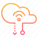 cloud, computing, data, internet, transfer icon