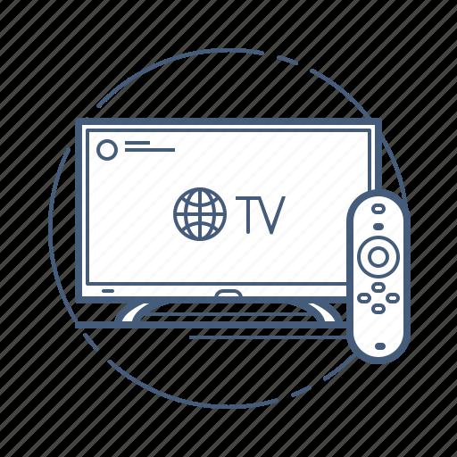 cinema, screen, smart tv, television, video icon