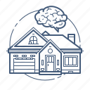 home automation, sistem, smart home icon