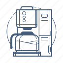 coffee machine, coffee maker, kitchen appliance icon