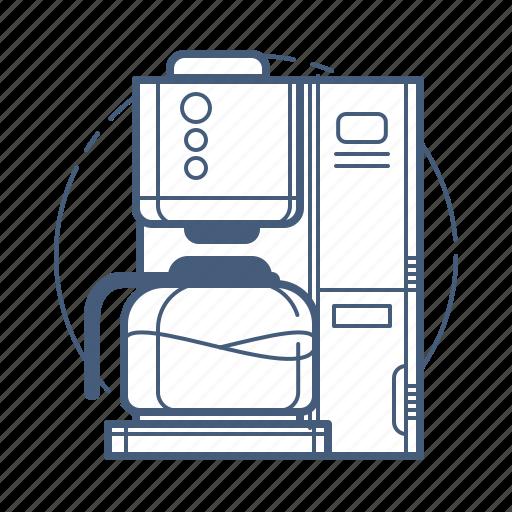 coffee machine, coffee maker, kitchen appliance icon