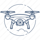 copter, drone, quadcopter icon