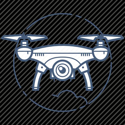 copter, drone, quadcopter icon