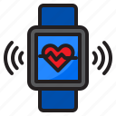 watch, smartwatch, internet, heart, rate, wifi
