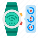 heart, rate, smart, smartwatch, watch icon