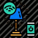 commander, lamp, smart, speak, wifi icon