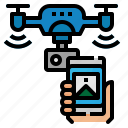 drone, internet, phone, smart, things