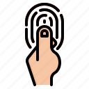 finger, internet, print, scan, things