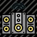 audio, internet, loudspeaker, speaker, things, wifi