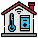 home, internet, smart, thermometer, things