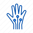 artificial intelligence, hand, processor, robotic icon